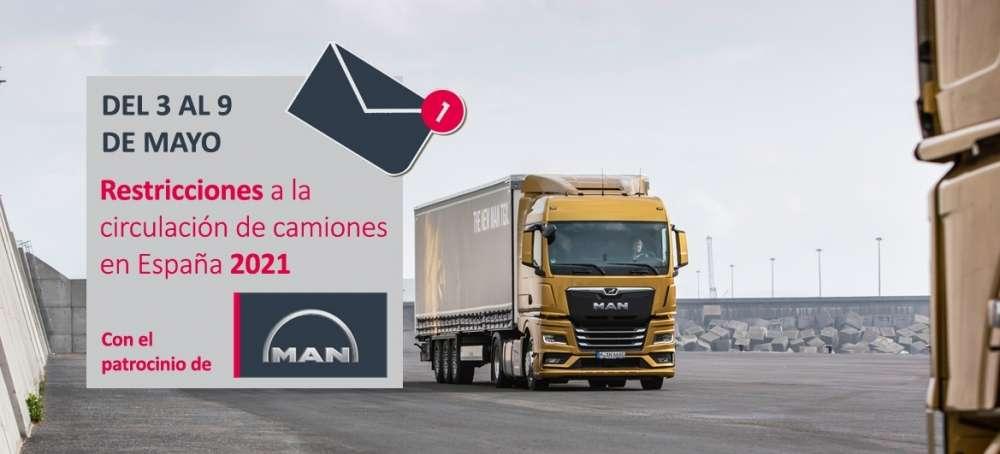Restricciones a la circulación de camiones del 3 al 9 de mayo