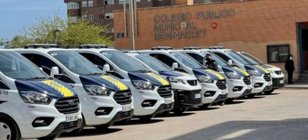 Furgonetas Ford Transit Custom EcoBlue Hybrid para la Policía Local de Valencia